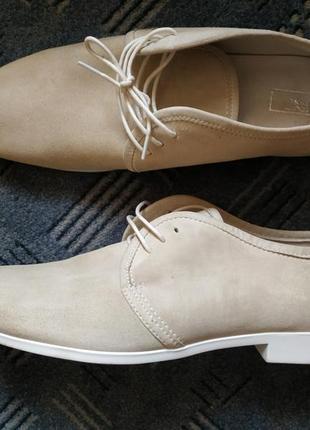 Шикарные кожаные туфли united colors of benetton, италия, оригинал!