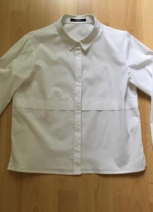 Белая рубашка прямого кроя someday3 фото