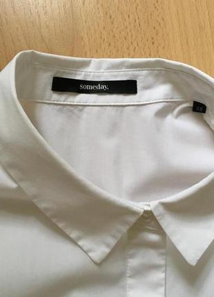 Белая рубашка прямого кроя someday5 фото