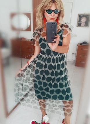 Платье в горошек италия