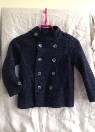 Шерстяное пальто куртка жакет zara