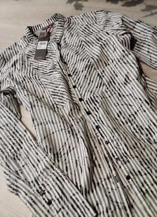 Удлинённая рубашка туника платье firetrap полоска
