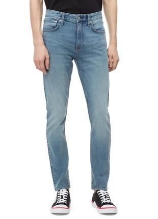 Прямые потертые мужские синие джинсы calvin klein модель 035, оригинал