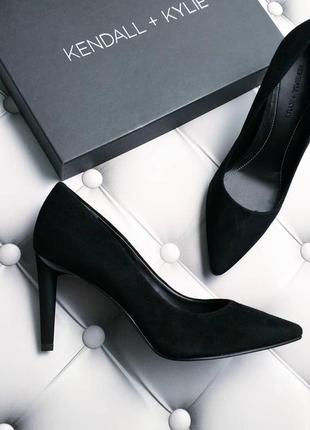 Kendall + kylie оригинал черные замшевые туфли лодочки на шпильке