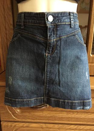 Супер юбка джинсовая стреч раз 2xl (52)