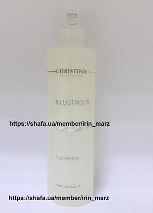 Новинка chrstina illustrious cleanser гель для умывания с ана кислотами 300 мл