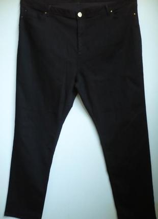 Черные джинсы, зауженные , большой размер 24