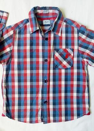 Рубашка в клеточку, 104 см