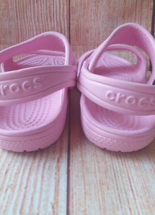 Босоножки сандалии crocs оригинал на девочку.6 фото