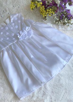 Эксклюзивное платье, платьице для крещения или торжества на 2-4 месяца