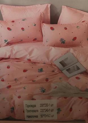 Комплект постельного белья евро, фланель
