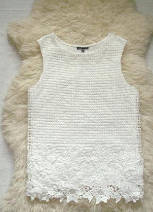 Стильная блуза с красивым ажурным кружевом