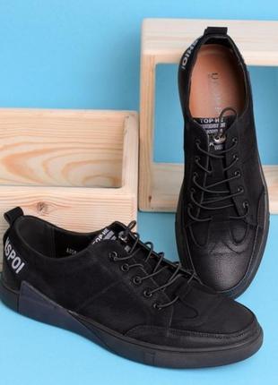 Стильные замшевые черные мужские туфли на шнурках с надписью
