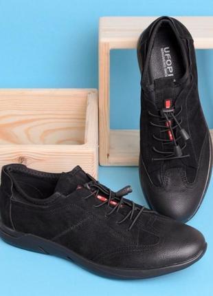 Стильные черные мужские замшевые спортивные туфли кроссовки