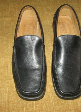 Кожаные туфли мокасины италия