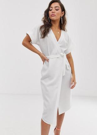 Asos чарівна біла сукня на запах
