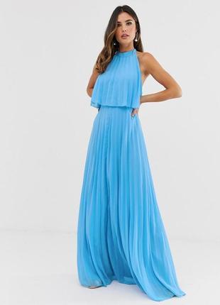 Asos романтична блакитна сукня-плісе
