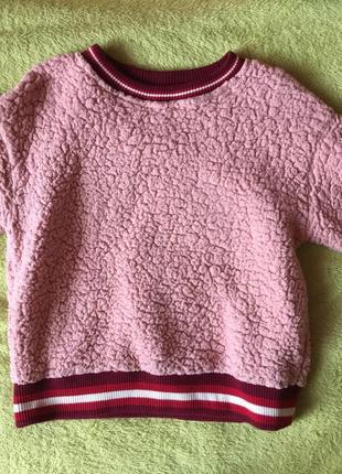 Мягкий свитшот свитерок в стиле баранчика bershka