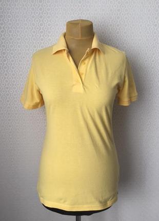 Комфортное поло красивого мягкого желтого цвета размер l от бренда  designer s