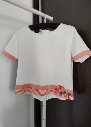 Укороченный топ, блуза ter de caractere pp m
