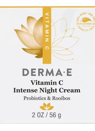Интенсивный ночной крем с витамином с, пробиотиками и чаем ройбуш derma e (сша)