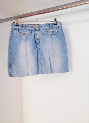 Dorothy perkins джинсовая короткая юбочка обрезанная