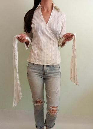 Блуза на запах5 фото