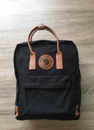 Рюкзак канкен fjallraven kanken no 2 сумка портфель  16л черный б/у