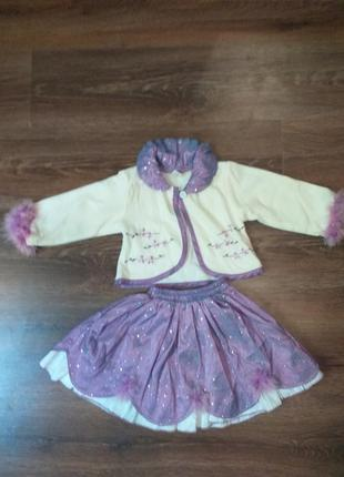 Нарядный костюмчик для девочки на 1-2 года, идеальное состояние