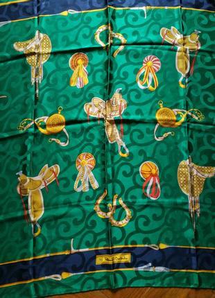 Шелковый винтажный платок итальянского бренда  renato balestо