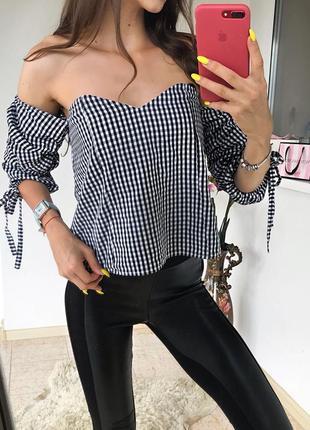 Трендова бавовняна  блуза nasty gal 🖤