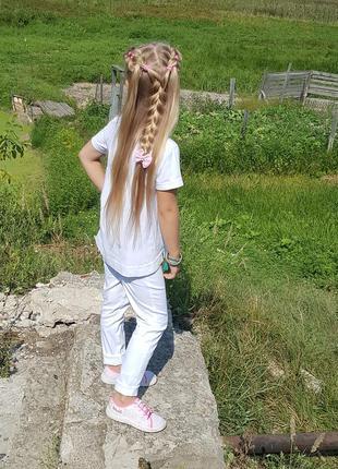 Стильные белые брюки р.122