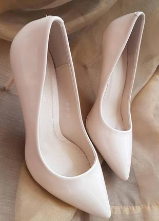 Лодочки туфли бежевые4 фото