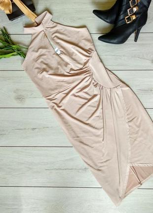 Шикарное пальтельное платье с открытой спиной