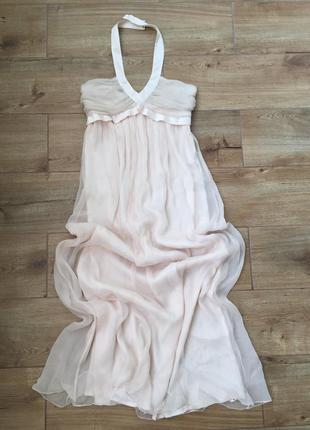 Шикарное шелковое коктейльное платье