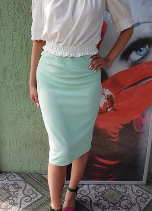 Мятная юбка new look
