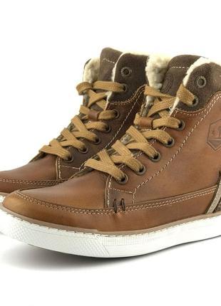 Кожаные утепленные ботинки bullboxer (германия)