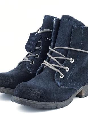 Утепленные замшевые ботинки tom tailor