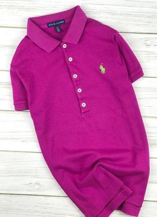 Поло женское ralph lauren фиолетовое