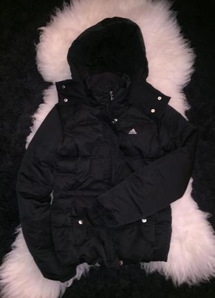 Пуховик adidas куртка оригинал с капюшоном