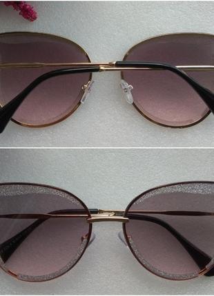 Новые красивые очки с блеском на стекле, розовые