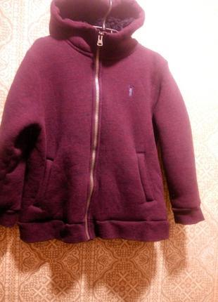Теплая кофта, куртка на искусственном меху    унисекс