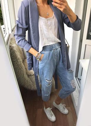 Стильные новые рваные джинсы, брюки джоггеры