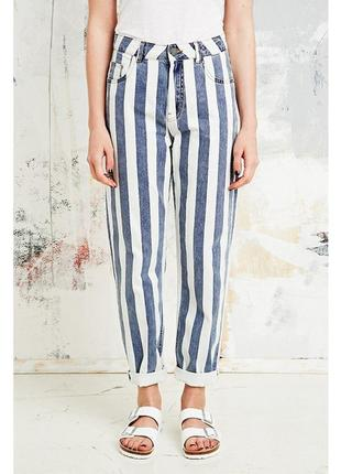Live stage новые трендовые летние джинсы мом в полоску#штаны#брюки#высокая посадка.
