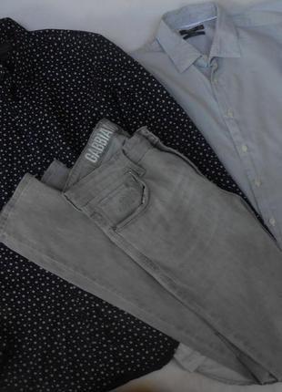 2 брендовые  мужские рубашки 36 р. и джинсы  с-м (zara, mango)