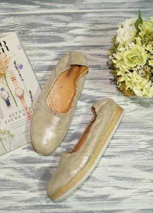 Gabor. кожа. фирменные мокасины, туфли с золотым напылением