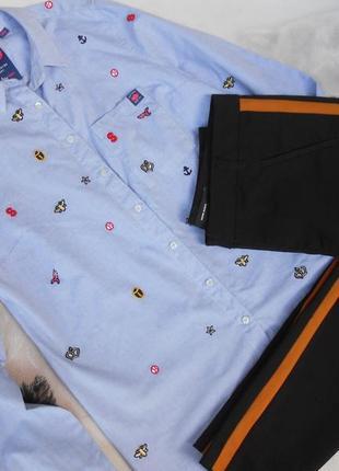 Очень красивые заужен. брючки с лампасами и блузочка под них м-ка