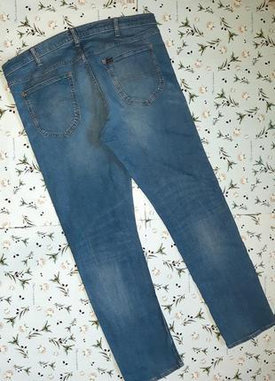 Акция 1+1=3  фирменные базовые узкие джинсы lee, размер 54 - 56, большой размер4 фото