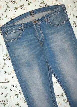 Акция 1+1=3  фирменные базовые узкие джинсы lee, размер 54 - 56, большой размер6 фото