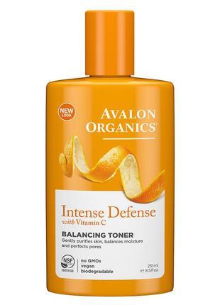 Балансирующий тоник с витамином с и антиоксидантами avalon organics (сша)